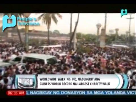 Worldwide Walk ng INC nasungkit ang Guinness World Record na Largest Charity Walk [02 17 14]