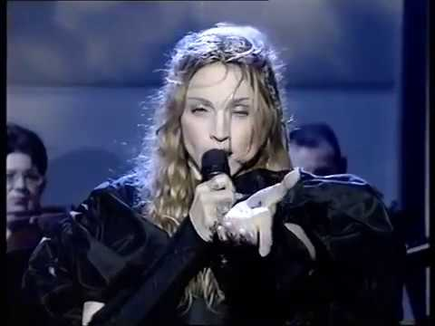 madonna : frozen : live at : performance national loto : uk : 1998 :