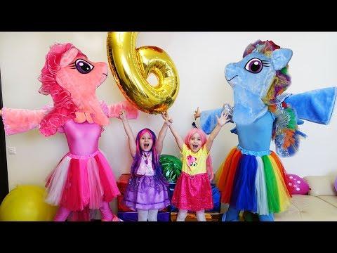 День рождения Софии 6 лет/ Гигантские ПОДАРКИ GIANT LOL /  Игрушки ЛОЛ куклы LOL Dolls МАЙ ЛИТЛ ПОНИ