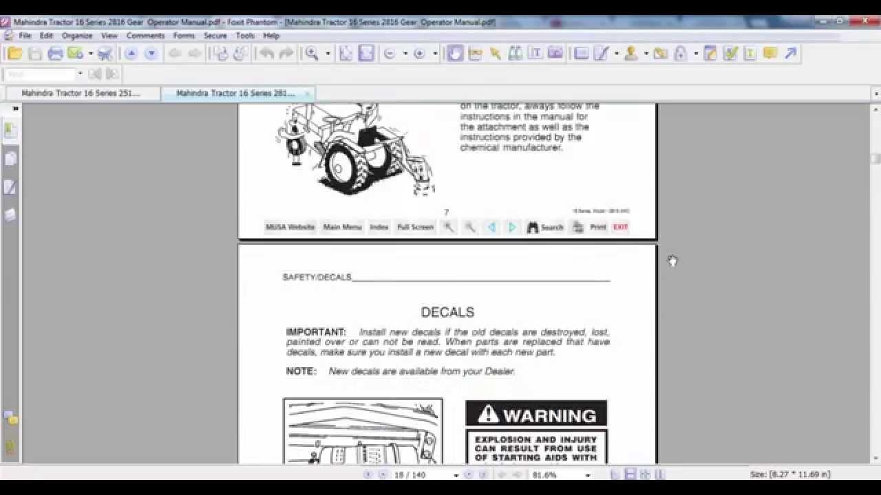 mahindra tractor 16 series 2816 gear operator manual youtube rh youtube com mahindra scorpio repair manual mahindra parts manual