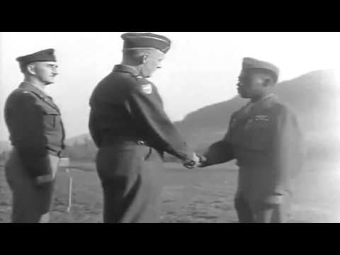 WW2 African-American Soldiers Awards & Parade, Künzelsau, Germany, 10/19/1945 (full)