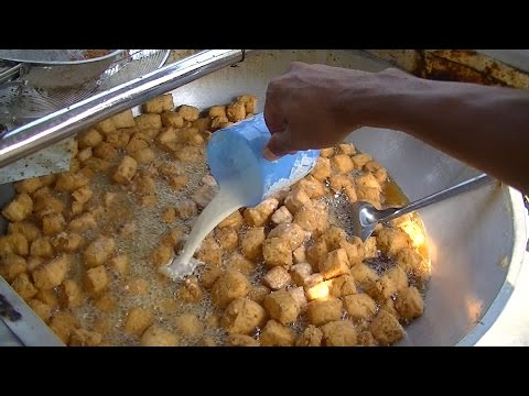 Jakarta Street Food 492 Crispy Pong Tofu only 7 Cents USD per 3 pieces TahuPongCrispi1000/3biji 3384