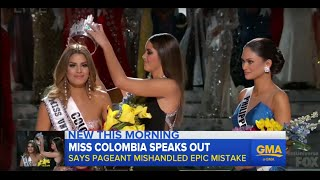 Miss Colombia Responds, 'Cried a Ton' After Crowning Mistake