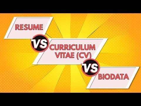 What S The Difference Between Cv Resume And Bio Data Hindi Youtube