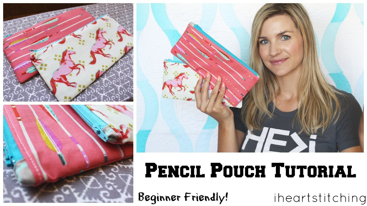 07a3859e7f54 Easy Pencil Pouch Tutorial - Back to School! - YouTube