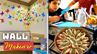 Colourful Wall makeover for kids room | Stuffed Jumbo Pasta shells