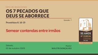 OS 7 PECADOS QUE DEUS SE ABORRECE | Série de devocionais