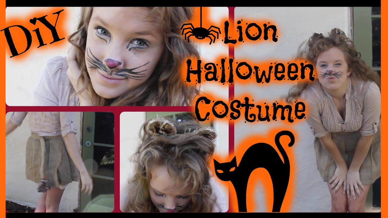 DIY Lion Halloween Costume | Haley Lynne - YouTube