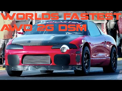 Worlds First 7 Second AWD 2G DSM Boostin Performance's Red Demon