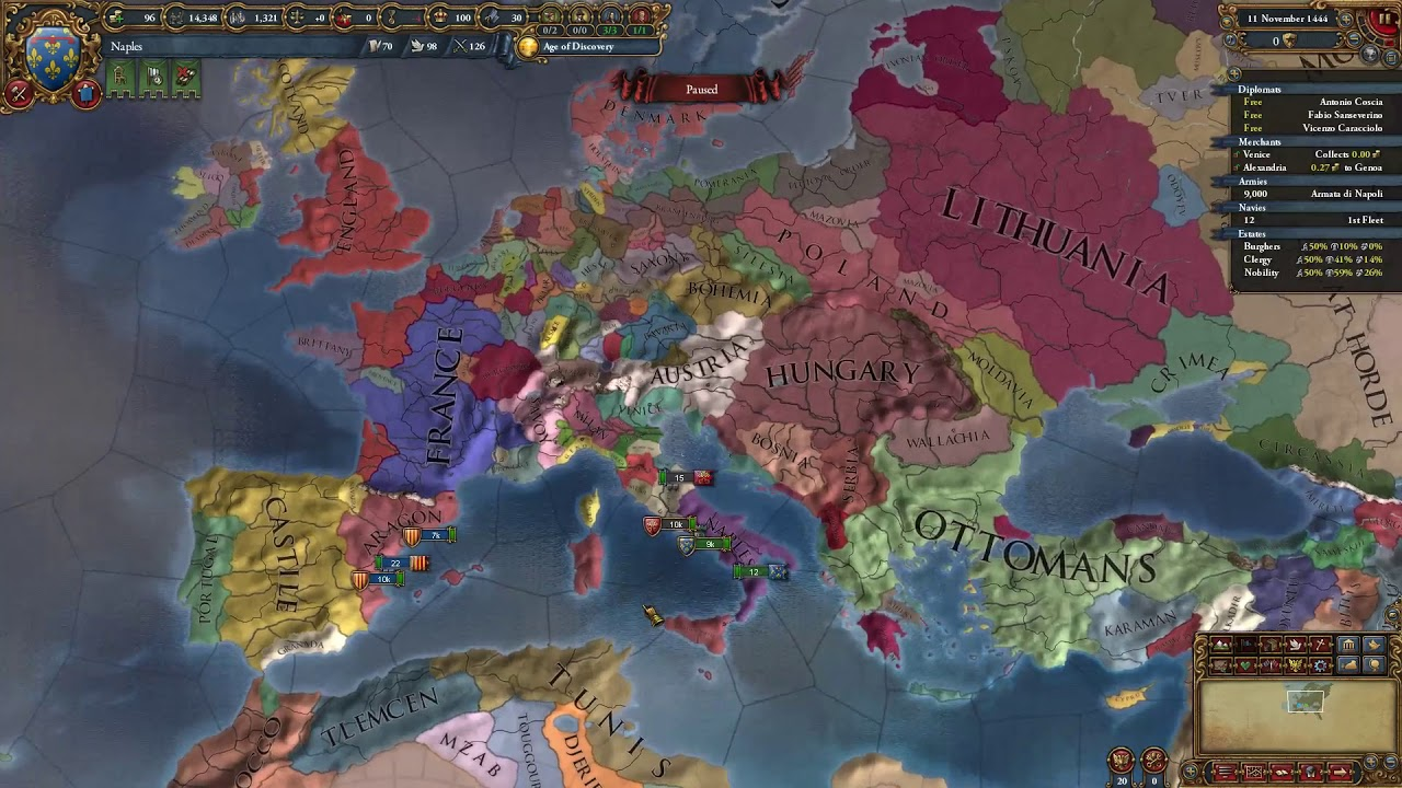 Eu4 Naples guide - Breaking free, expansion and ideas!