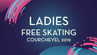 Kamila Valieva (RUS)| Ladies Free Skating | Courchevel 2019