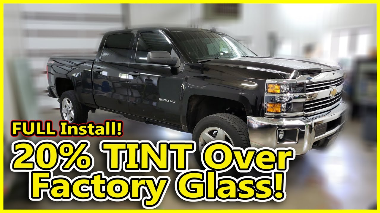 Chevy Silverado Gets Window Tinting Over Factory Privacy Glass