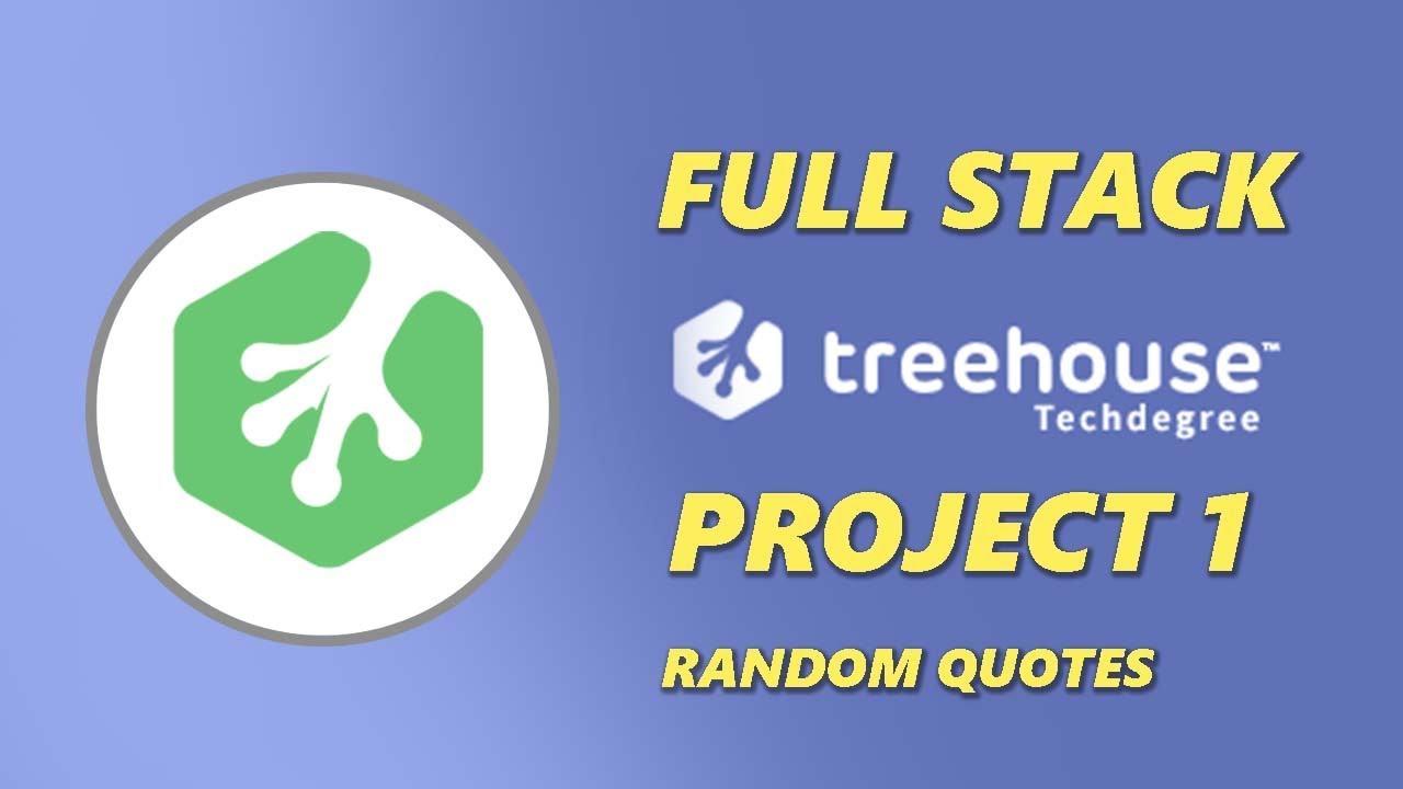 Treehouse Techdegree Fullstack JavaScript Project 1