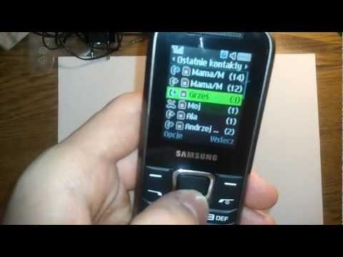 Krótki test - przegląd możliwości Samsung E1230