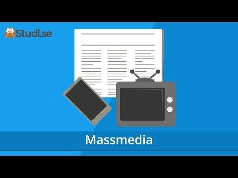 Massmedia (Samhällskunskap) - Studi.se