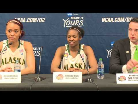 2016 NCAA DII WBB Elite8 - Alaska Anchorage's Post Game Press Conference