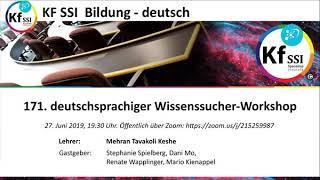 2019 06 27 PM Public Teachings in German - Öffentliche Schulungen in Deutsch