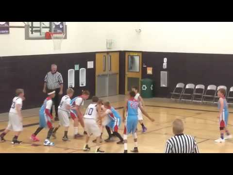 John Cronk Weld Central Middle School 7th grade boys basketball.