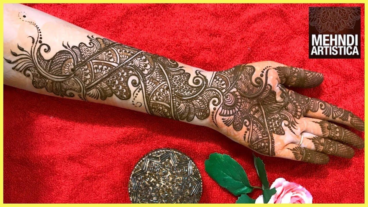 Stylish Unique Mehndi Designs: Engagement Style Mehndi Design For Hands