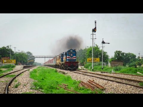 IRFCA - Diverted LHB Train in Single Line Semaphore Territory | LTT-HW Ac Express | Token Exchange !