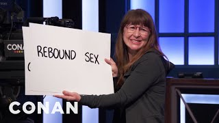 Dana In Cue Cards Has A Message For Channing Tatum  - CONAN on TBS