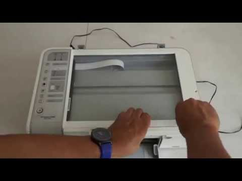 Fixing a Paper Jam   HP PSC 1200 All in One Printer   YouTube 19 21