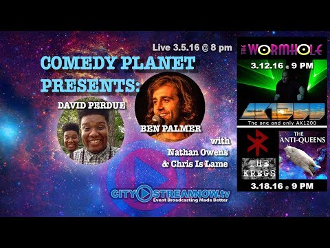 Comedy Planet Presents: David Perdue, and Ben Palmer