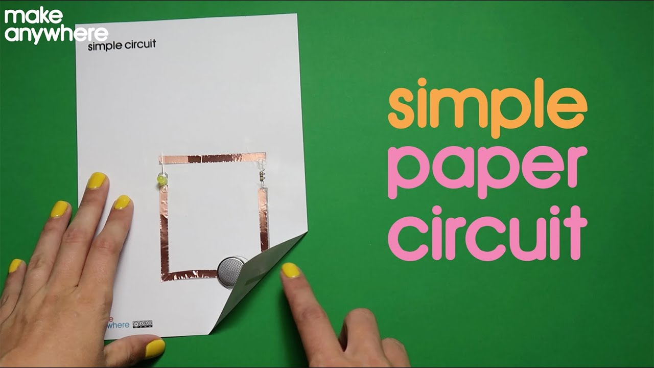How To Make A Simple Paper Circuit YouTube