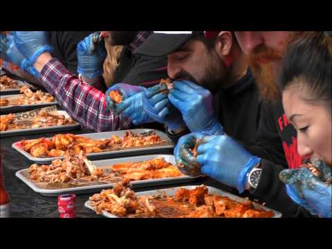 Grillstock Frank's RedHot Sauce Chicken Wing Eating Competition Sunday 31 May