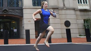 Who Is The Intern In The Blue Dress Running To Deliver Breaking News?