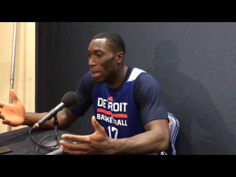 Michael Ojo works out for Pistons, talks about choosing basketball over soccer