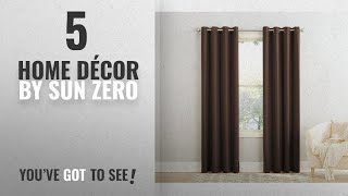 Top 10 Home Décor By Sun Zero [ Winter 2018 ]: Sun Zero Barrow Energy Efficient Grommet Curtain