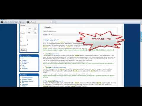 Joomla Search Component And Advanced Search Module - AceSearch - For Joomla