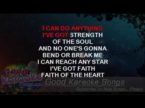 Faith Of The Heart -  Rod Stewart (Lyrics Karaoke) [ goodkaraokesongs.com ]