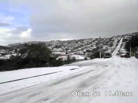 Dunedin Snow   Otago, South Island, New Zealand.flv