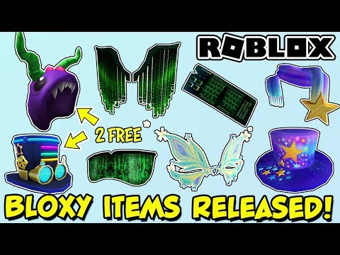 Free Items Bloxypunk Top Hat Bloxysaurus Rawx Roblox Plus Make A Wish And Code Org Items Youtube