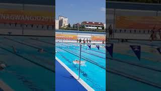 50대아재 스타트접영 남부대 야외수영장