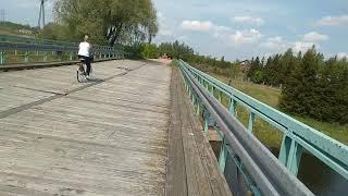 Opuszczony,zamknięty most na Biebrzy  Osowiec Twierdza