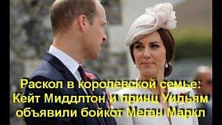 Раскол в королевской семье: Кейт Миддлтон и принц Уильям объявили бойкот Меган Маркл