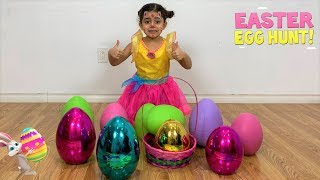 Easter Egg Hunt with Giant Color Eggs Surprise Toys for kids!