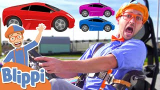 FAST CARS Song   BLIPPI Brand New Song   Educational Songs For Kids
