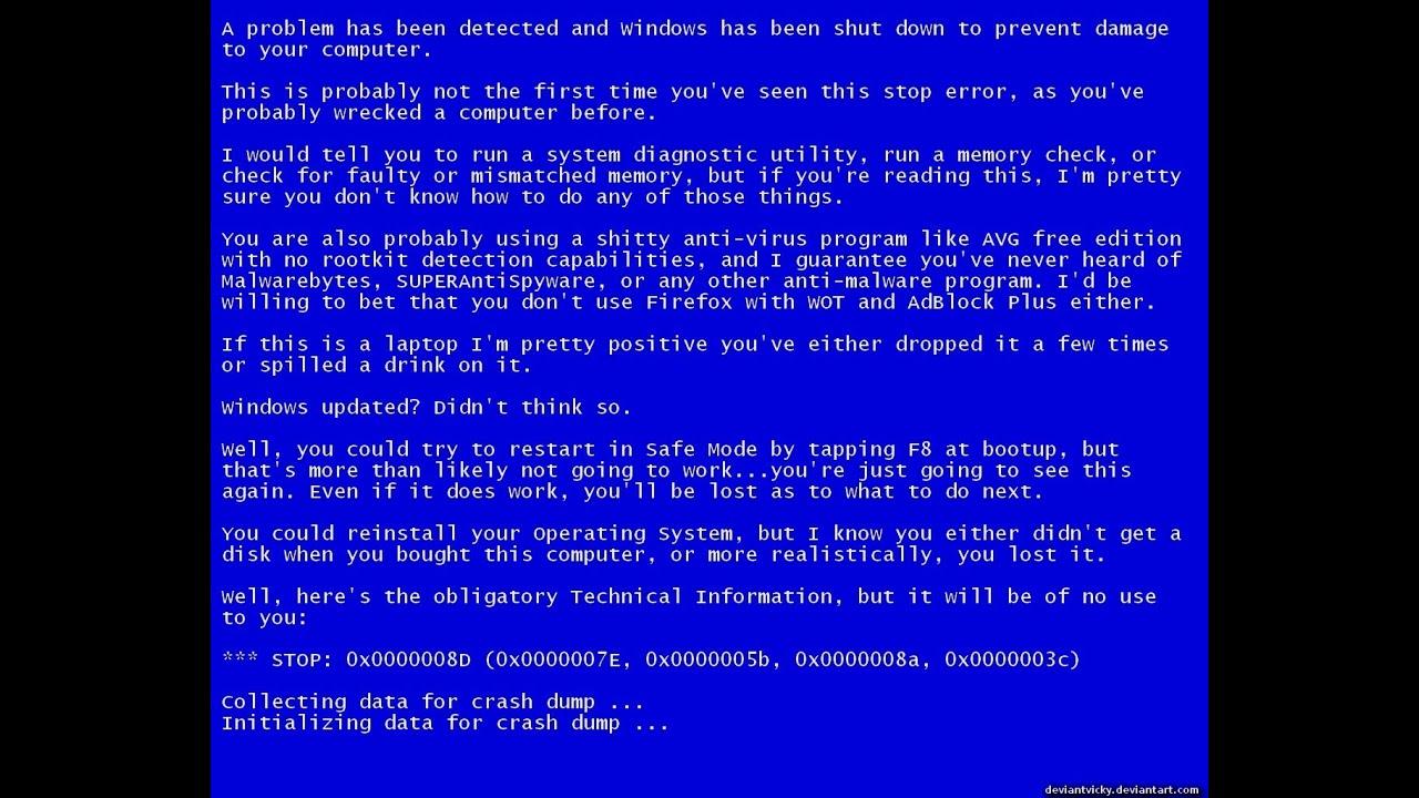 Синий экран смерти что делать. - YouTube