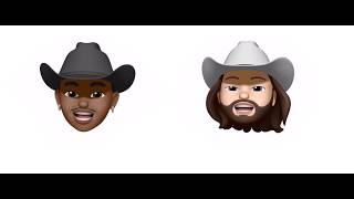 Old Town Road (Remix) - Lil Nas X (feat. Billy Ray Cyrus) (Animoji Karaoke 4K)