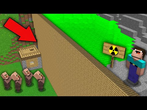 Minecraft NOOB vs PRO : NOOB BUILDED DAM TO GUARD VILLAGER FROM TOXIC WATER! Challenge 100% trolling