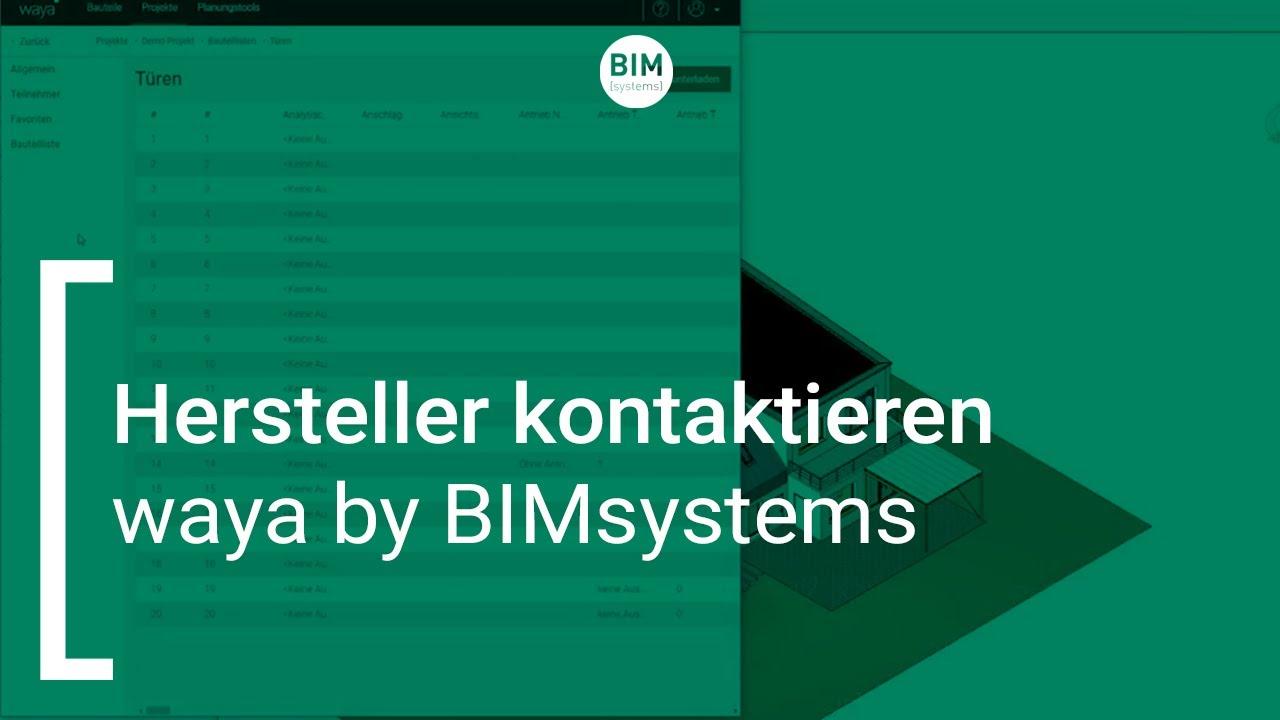 waya by BIMsystems |  Hersteller kontaktieren