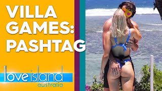 Villa games: Bombs lock lips with the boys in 'PashTag' | Love Island Australia 2019