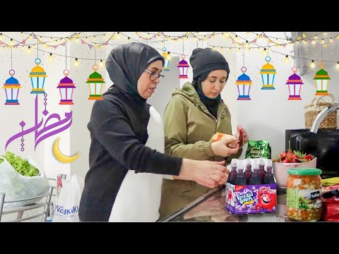 تجهيزات رمضان مع ماما 🌙 اول رمضان إلنا بتركيا 🇹🇷 - Mkazba Chaimae