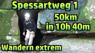 Wandern extrem: 50km unter 11 Stunden, Spessartweg 1 #204