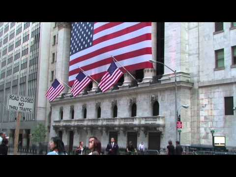 Outside the New York Stock Exchange, Financial District, New York City, New York, USA