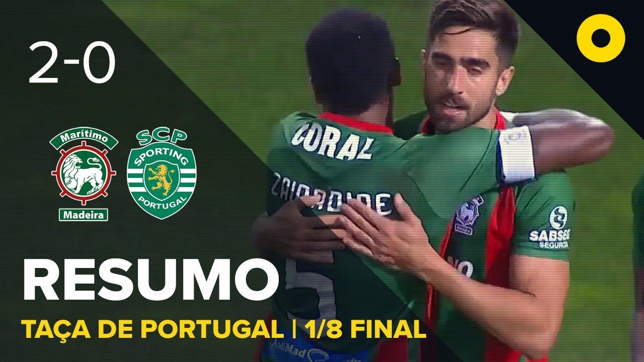 Маритиму  2-0  Спортинг Лиссабон видео